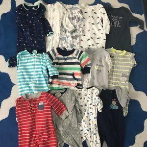 Baby boy bundle-pajamas | sleep onesies | 0-3 mos